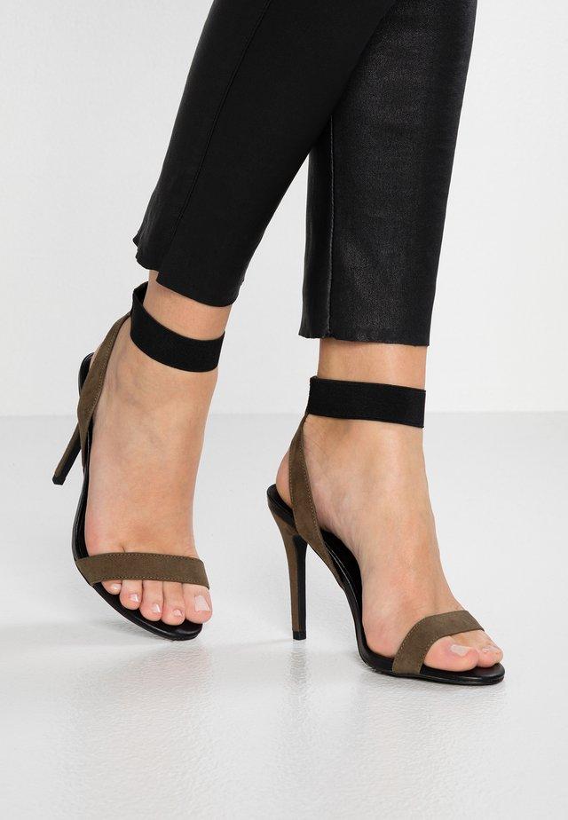 WIDE FIT ZYTHON - High heeled sandals - dark khaki