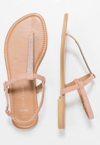 New Look Wide Fit - WIDE FIT HETALLIC - T-bar sandals - oatmeal - 3