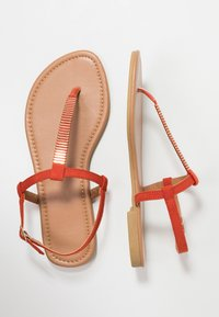 New Look Wide Fit - WIDE FIT HETALLIC - T-bar sandals - orange - 3