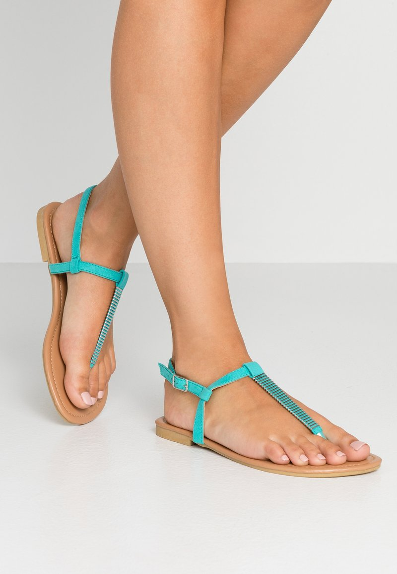 New Look Wide Fit - WIDE FIT HETALLIC - tåsandaler - turquoise