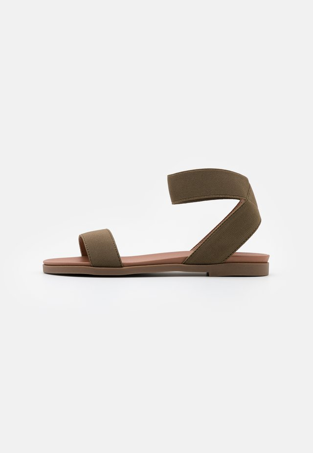 WIDE FIT JARO - Sandals - dark khaki