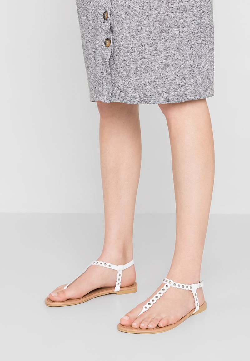 New Look Wide Fit - WIDE FIT FOSECCO - Zehentrenner - white