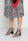 New Look Wide Fit - WIDE FIT PLAIT - Sandals - black