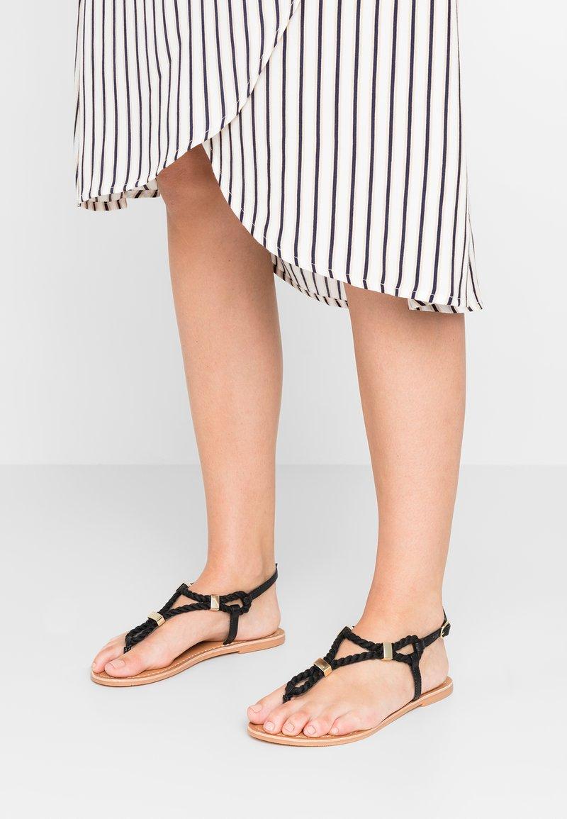 New Look Wide Fit - WIDE FIT HOPE - Sandalias de dedo - black