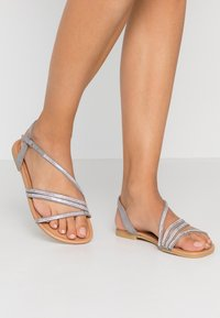 New Look Wide Fit - WIDE FIT FIAMOND - Sandály - mid grey - 0