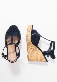 New Look Wide Fit - WIDE FIT POLLY - Sandály na vysokém podpatku - navy - 3