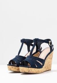 New Look Wide Fit - WIDE FIT POLLY - Sandály na vysokém podpatku - navy - 4