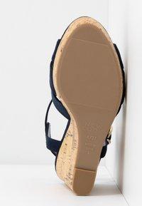 New Look Wide Fit - WIDE FIT POLLY - Sandály na vysokém podpatku - navy - 6