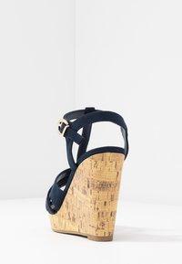 New Look Wide Fit - WIDE FIT POLLY - Sandály na vysokém podpatku - navy - 5
