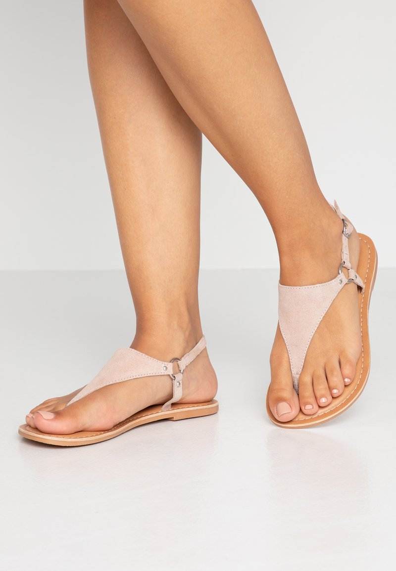 New Look Wide Fit - WIDE FIT HOLLIE  - Tongs - oatmeal