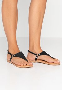 New Look Wide Fit - WIDE FIT HOLLIE  - Tongs - black - 0