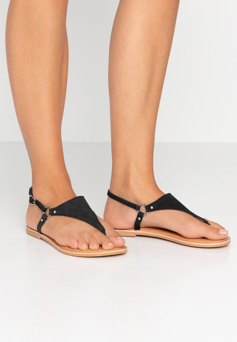 New Look Wide Fit - WIDE FIT HOLLIE  - T-bar sandals - black