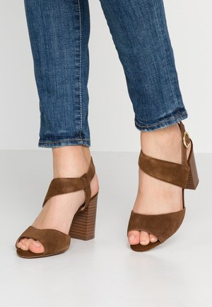 WIDE FIT PUZZLE  - High heeled sandals - tan