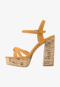 New Look Wide Fit - WIDE FIT PIXIE - Sandalias de tacón - dark yellow - 1