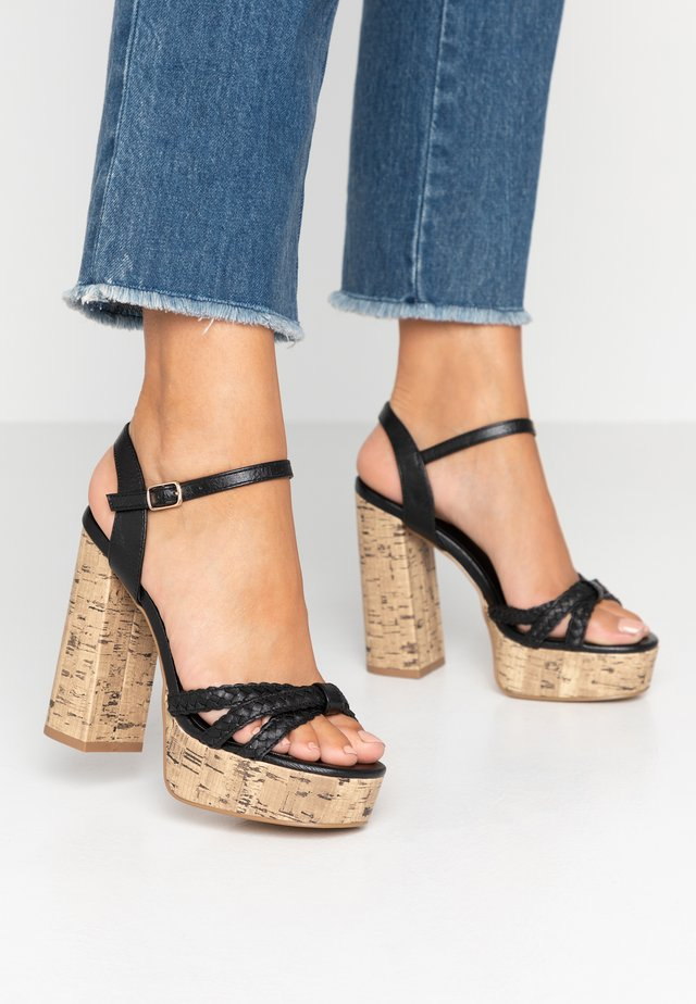WIDE FIT PIXIE - High Heel Sandalette - black
