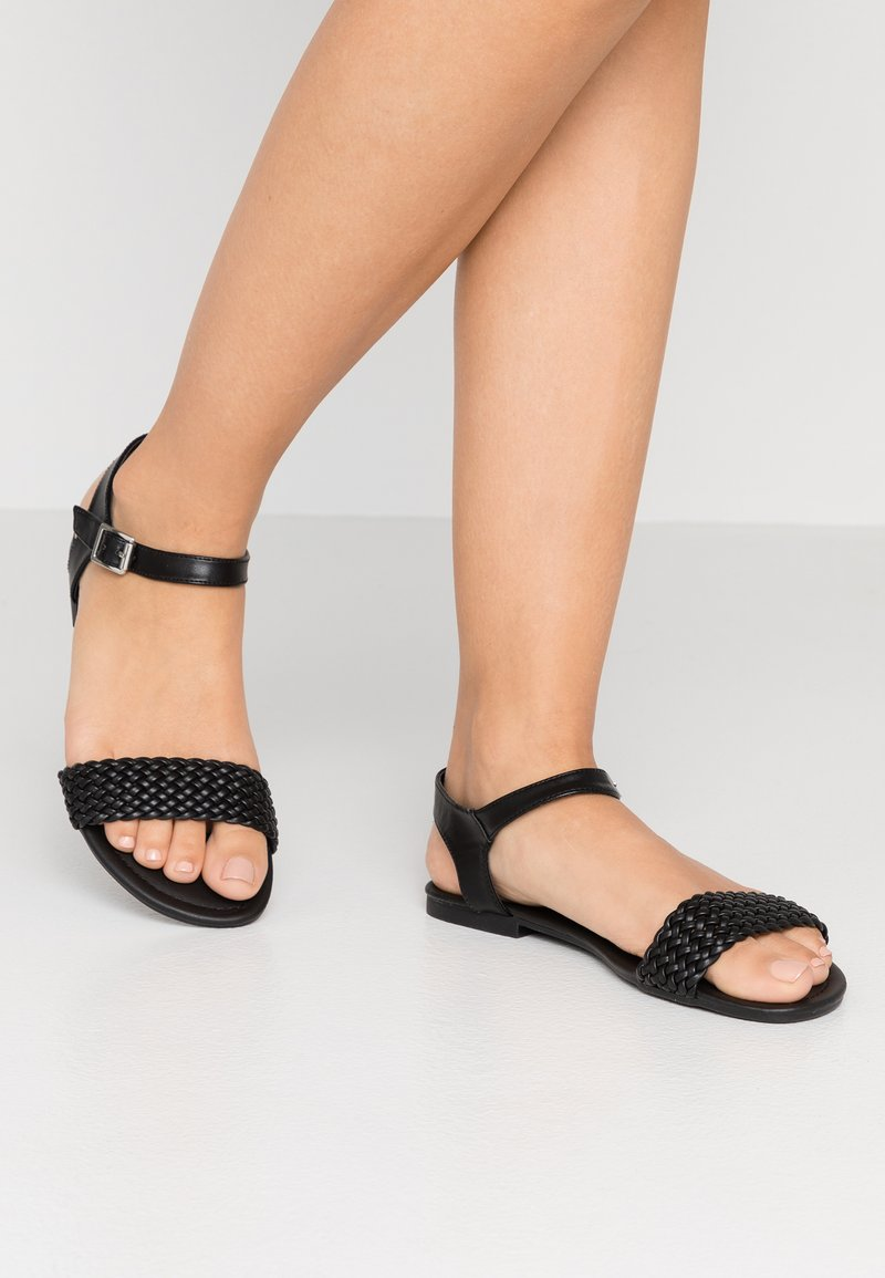 New Look Wide Fit - WIDE FIT FAVE - Sandals - black