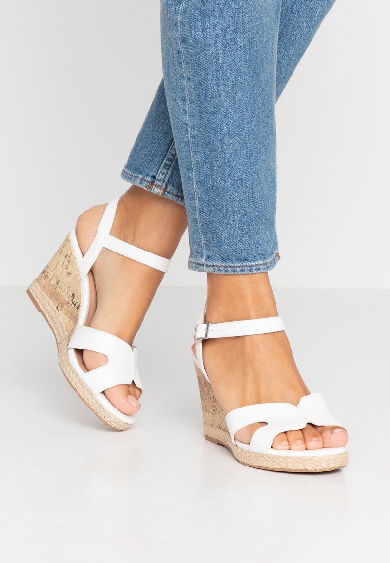 New Look Wide Fit - WIDE FIT POTTER - High heeled sandals - white