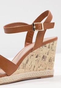 New Look Wide Fit - WIDE FIT POTTER - Sandály na vysokém podpatku - tan - 2