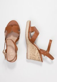 New Look Wide Fit - WIDE FIT POTTER - Sandály na vysokém podpatku - tan - 3