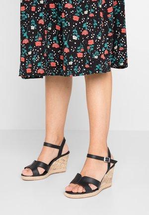 WIDE FIT POTTER - Sandály na vysokém podpatku - black