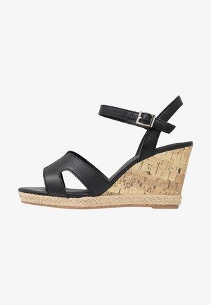 WIDE FIT POTTER - Korolliset sandaalit - black