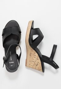 New Look Wide Fit - WIDE FIT POTTER - Korolliset sandaalit - black - 3