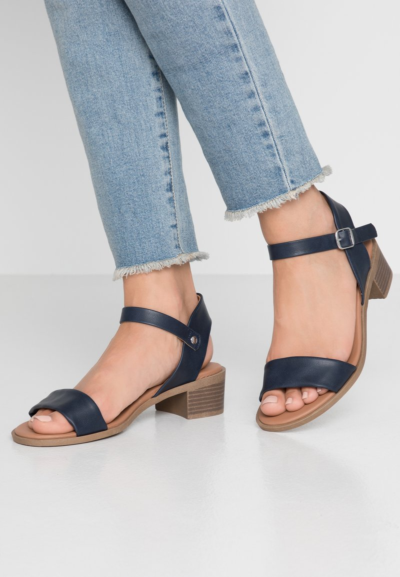 New Look Wide Fit - WIDE FIT PAMBLE - Sandály - navy