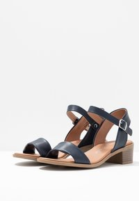 New Look Wide Fit - WIDE FIT PAMBLE - Sandály - navy - 4