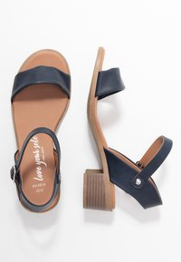 New Look Wide Fit - WIDE FIT PAMBLE - Sandály - navy - 3