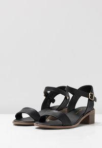New Look Wide Fit - WIDE FIT PAMBLE - Sandals - black - 4
