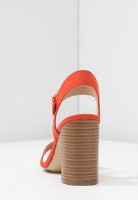 New Look Wide Fit - WIDE FIT PASS - Sandały na obcasie - orange - 5