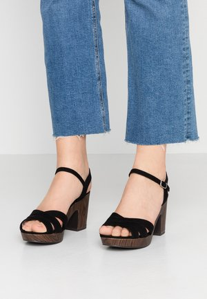 WIDE FIT PAI TAI - Clogs - black