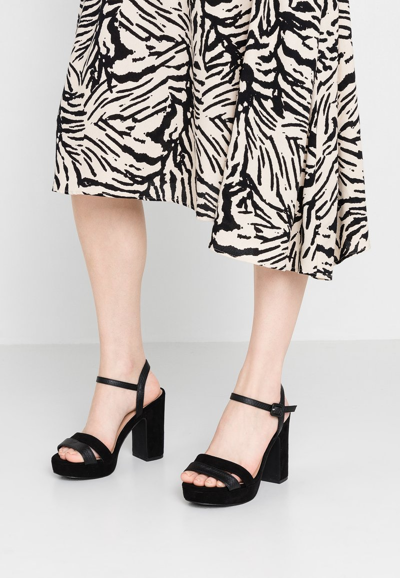 New Look Wide Fit - WIDE FIT ZOOP - High heeled sandals - black