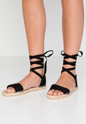 WIDE FIT HESP - Sandals - black