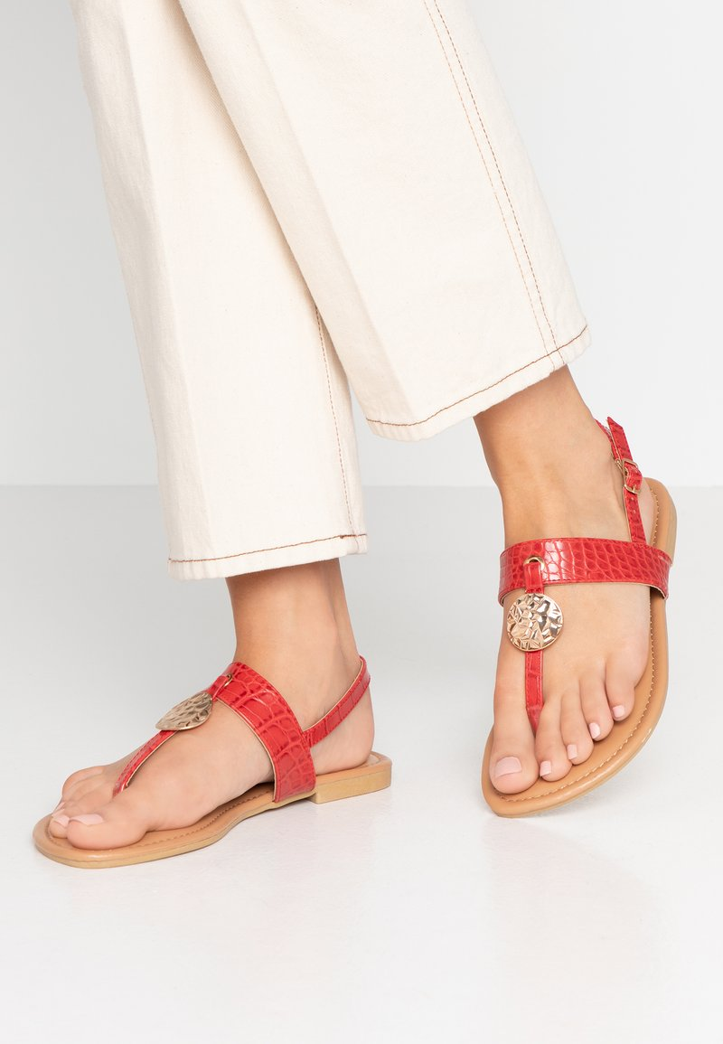 New Look Wide Fit - WIDE FIT HAMMER - T-bar sandals - bright red