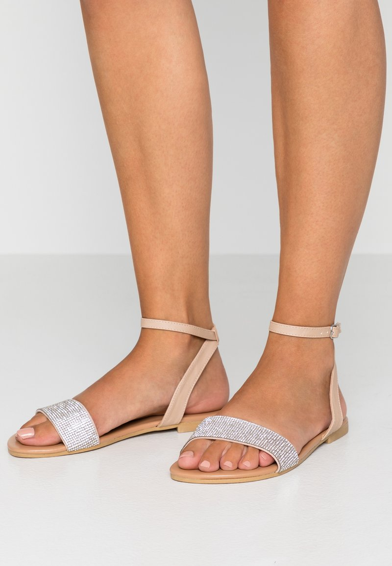 New Look Wide Fit - WIDE FIT HARKLE - Riemensandalette - oatmeal