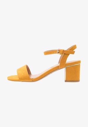 WIDE FIT STEEL  - Sandals - dark yellow
