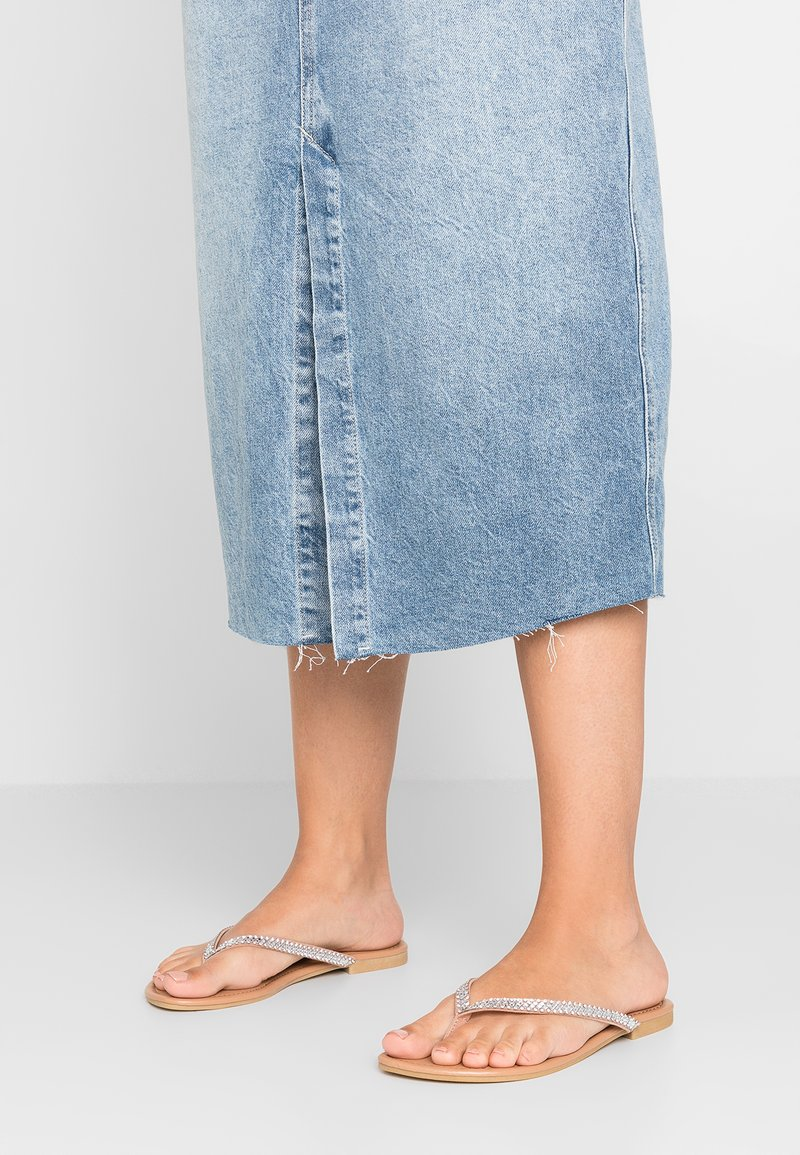 New Look Wide Fit - WIDE FIT GEMMY - T-bar sandals - oatmeal