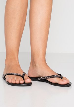 WIDE FIT GEMMY - T-bar sandals - black