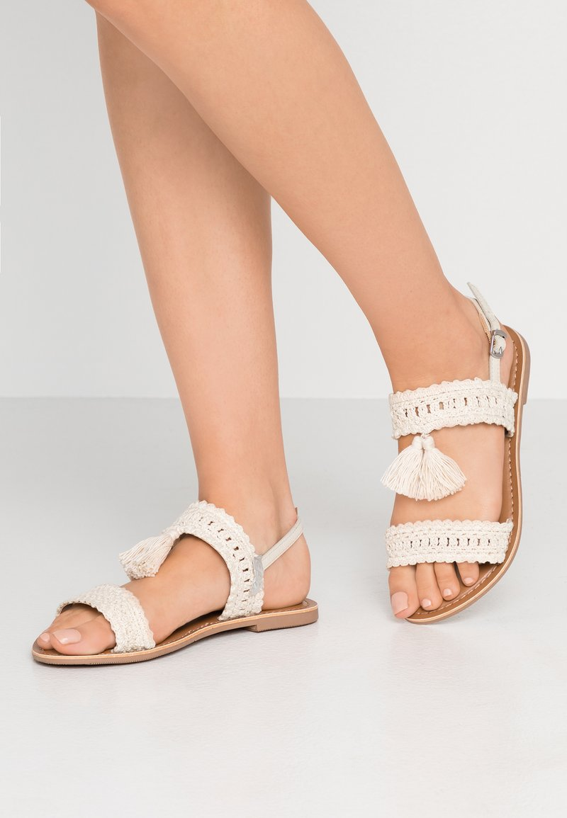 New Look Wide Fit - WIDE FIT FINEAPPLE - Sandals - offwhite