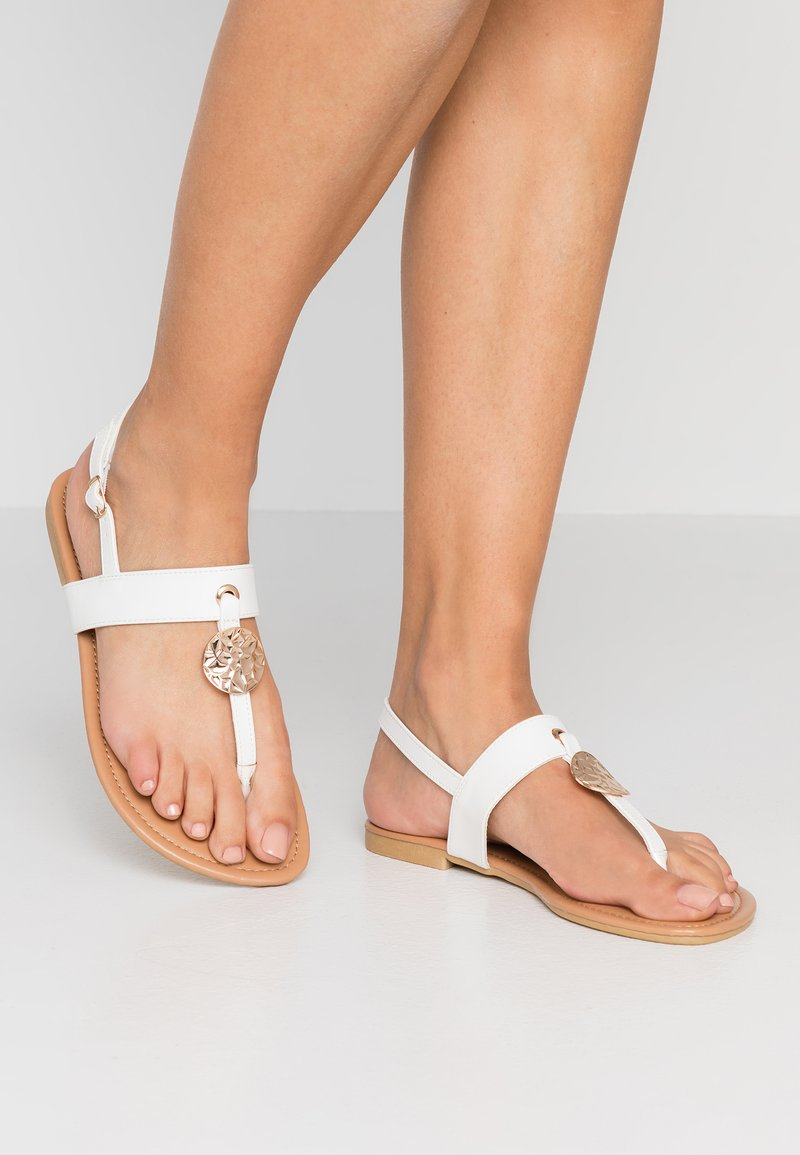 New Look Wide Fit - WIDE FIT HAMMER - Infradito - white