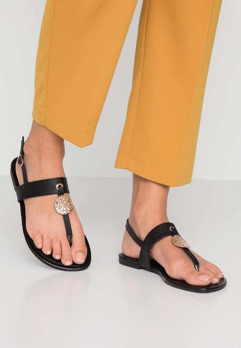 New Look Wide Fit - WIDE FIT HAMMER - Sandaler m/ tåsplit - black
