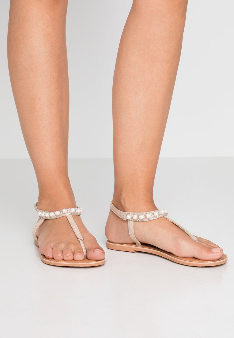 New Look Wide Fit - WIDE FIT IMOGEN - T-bar sandals - oatmeal