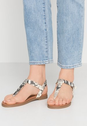 WIDE FIT ILLY - T-bar sandals - stone