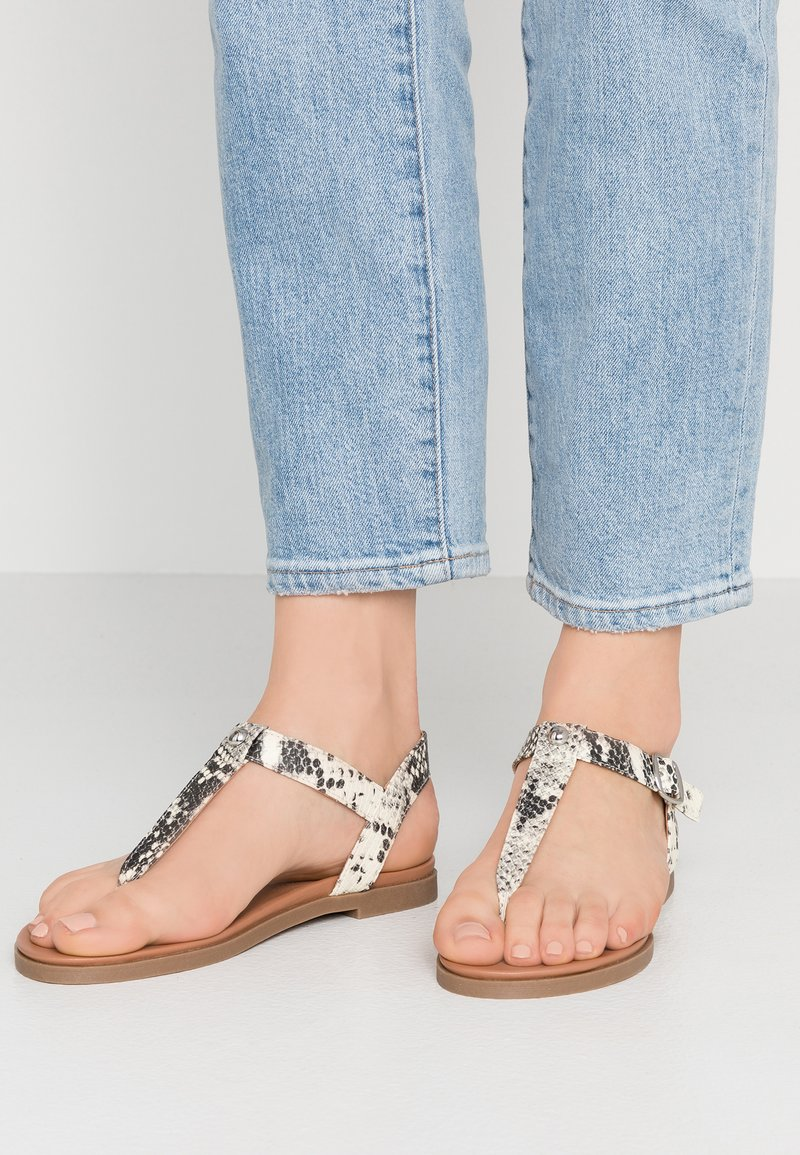 New Look Wide Fit - WIDE FIT ILLY - T-bar sandals - stone