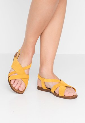 WIDE FIT GEAN - Sandals - dark yellow