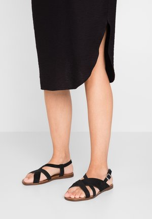 WIDE FIT GEAN - Sandalen - black
