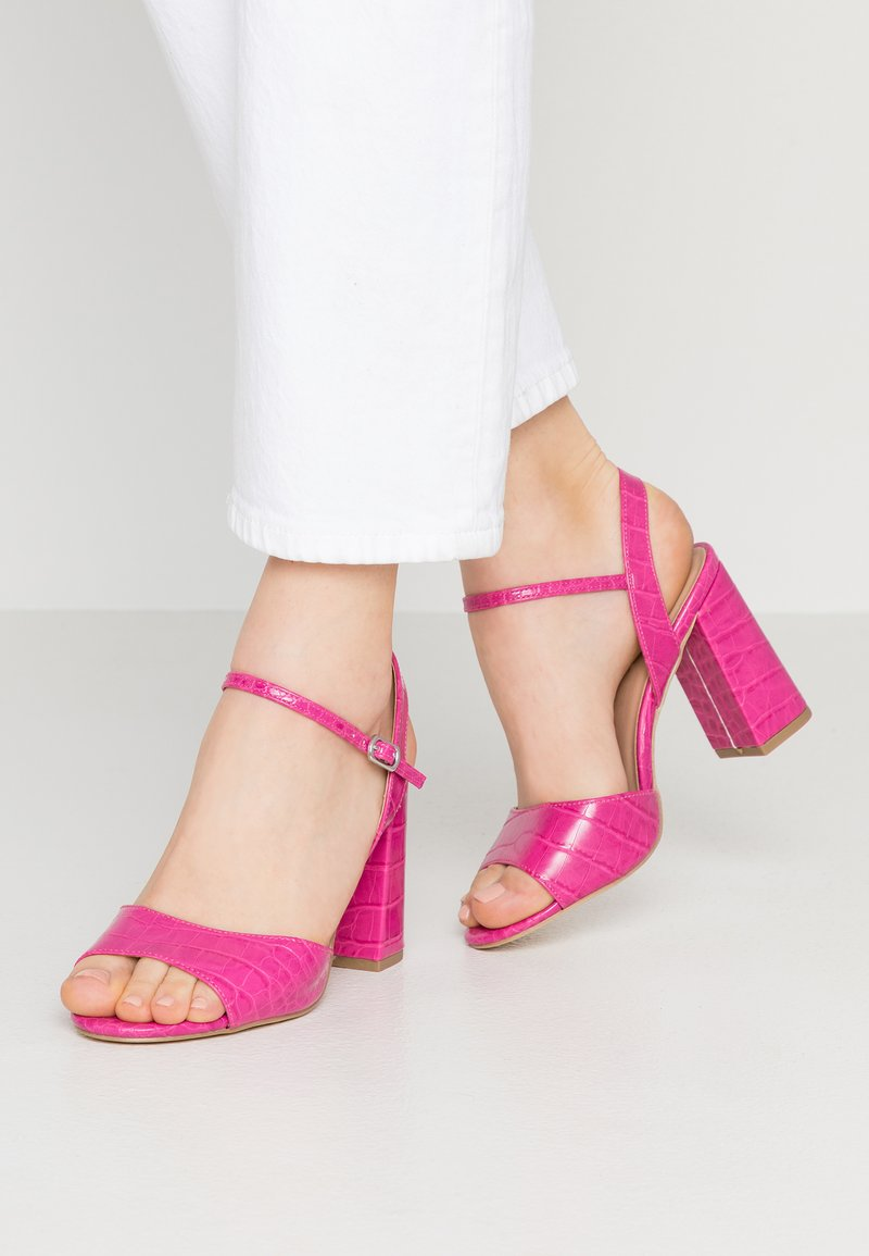 New Look Wide Fit - WIDE FIT TIMOTHY - High heeled sandals - bright pink