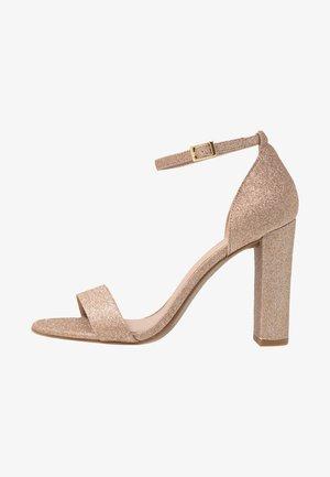 WIDE FIT TARONA  - High heeled sandals - rose gold