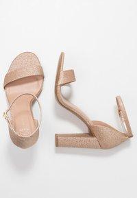 New Look Wide Fit - WIDE FIT TARONA  - Sandály na vysokém podpatku - rose gold - 3